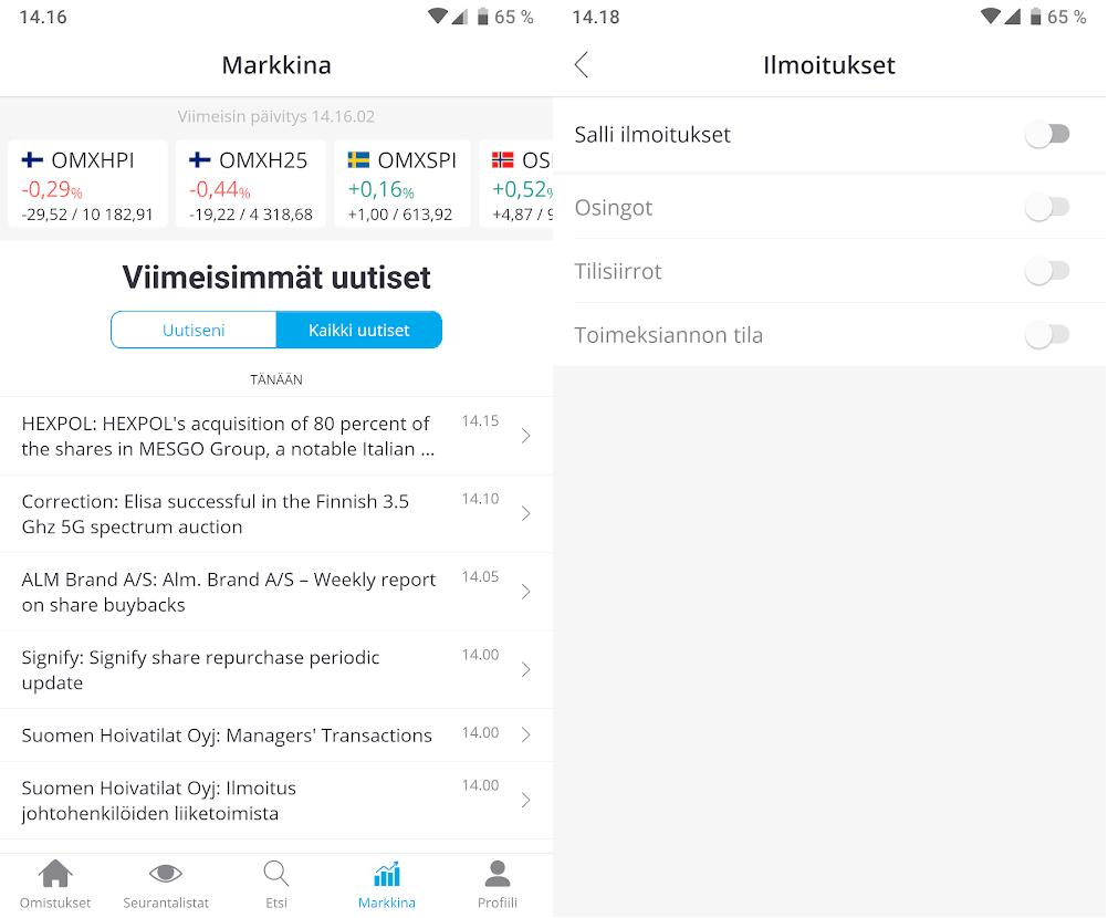 nordnet mobiilisovellus markkina ja ilmoitukset Nordnetin uusi mobiilisovellus   hitti vai huti?